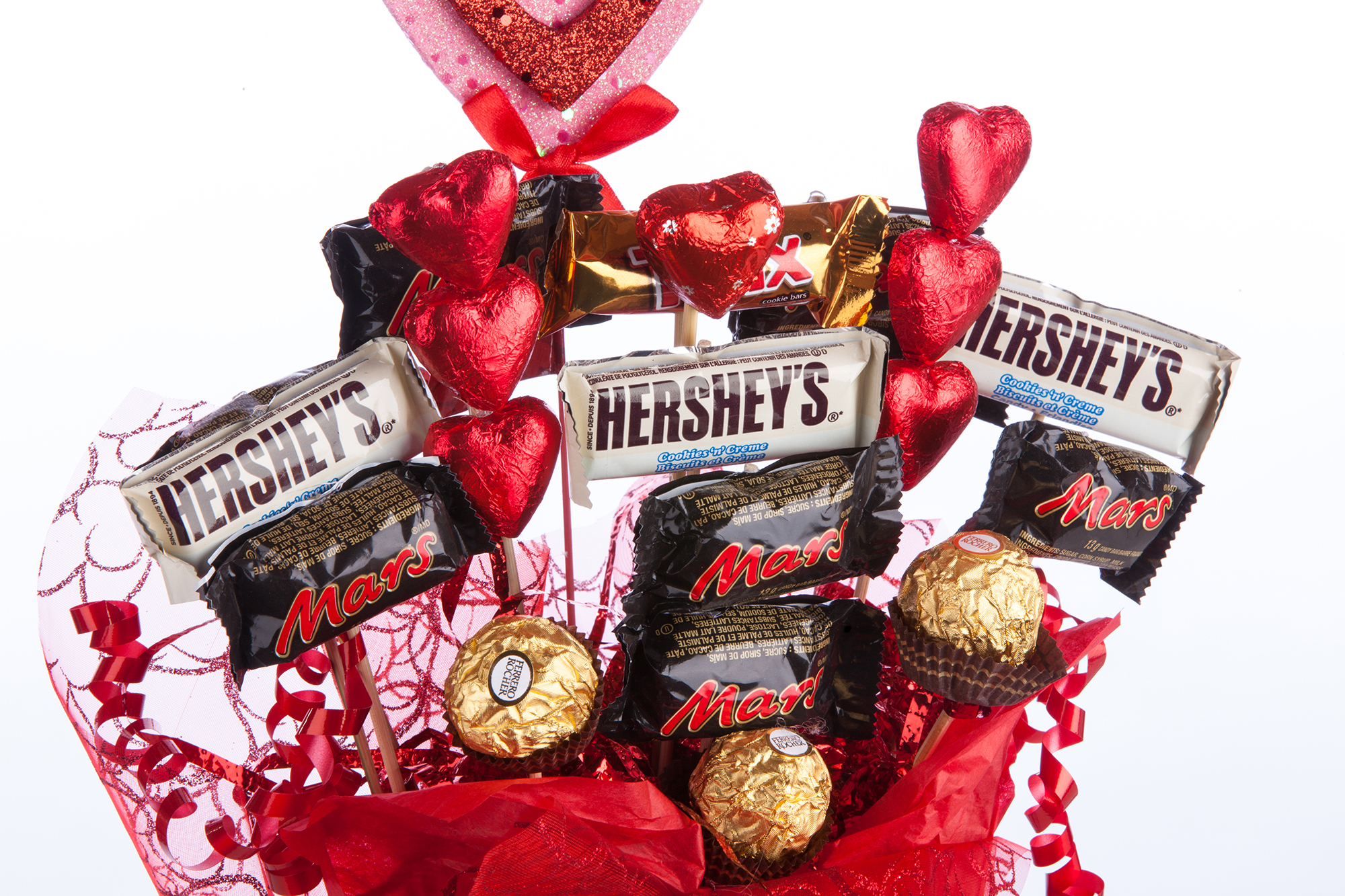 Lovely Valentine Chocolate Bouquet Canada